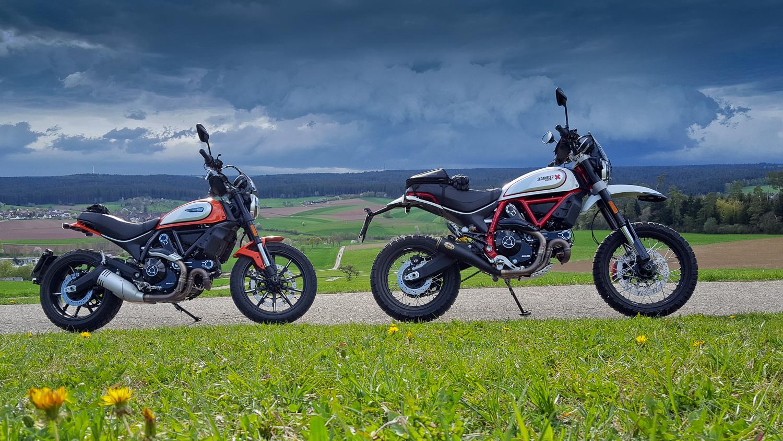Ducati Scrambler: Icon + Desert Sled
